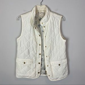 FINAL PRICE Cambridge Dry Goods cream quilted vest
